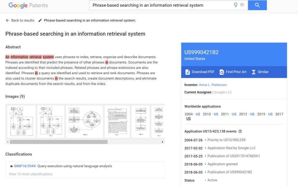 Google PhraseRank