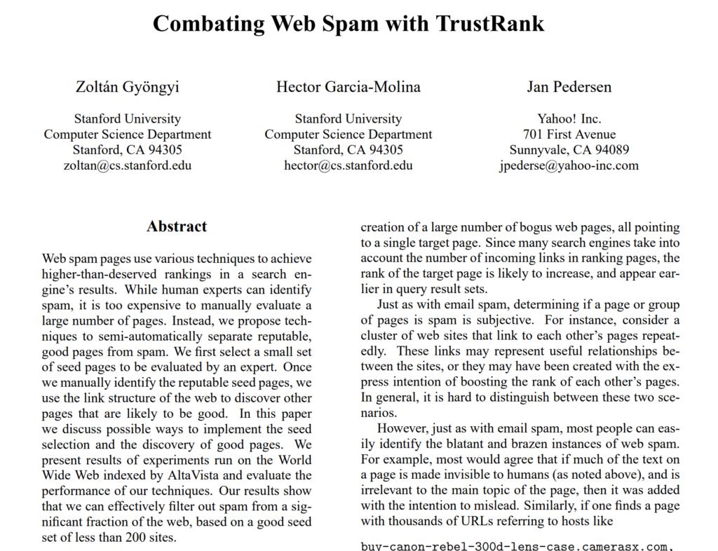 Google TrustRank